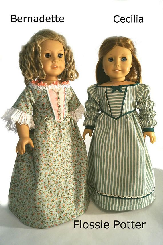777905f7600 Pixie Faire Flossie Potter Sisters Doll Clothes Pattern for 18 inch ...