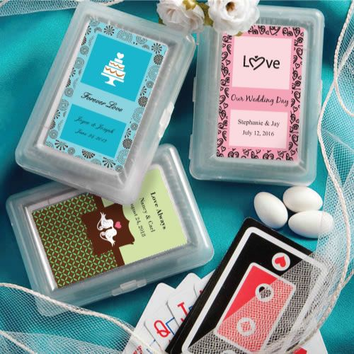 personalized playing card wedding favors  unique favors