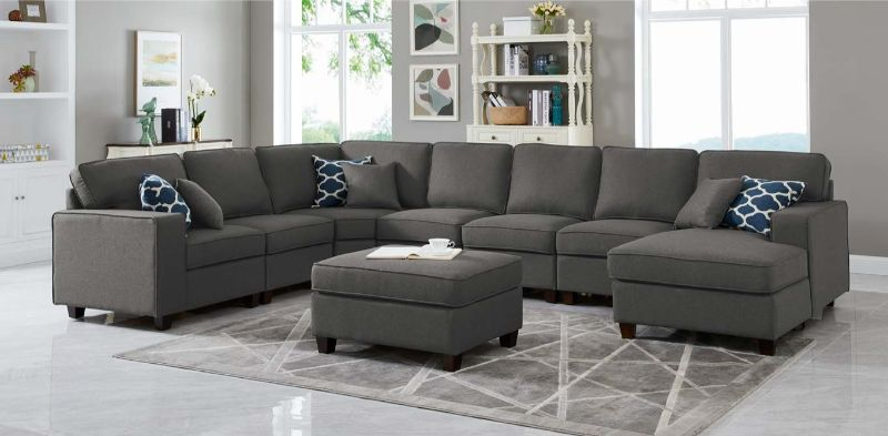 Strange Oah D6014 4 8 Pc Latitude Run Samual Blue Gray Linen Like Spiritservingveterans Wood Chair Design Ideas Spiritservingveteransorg