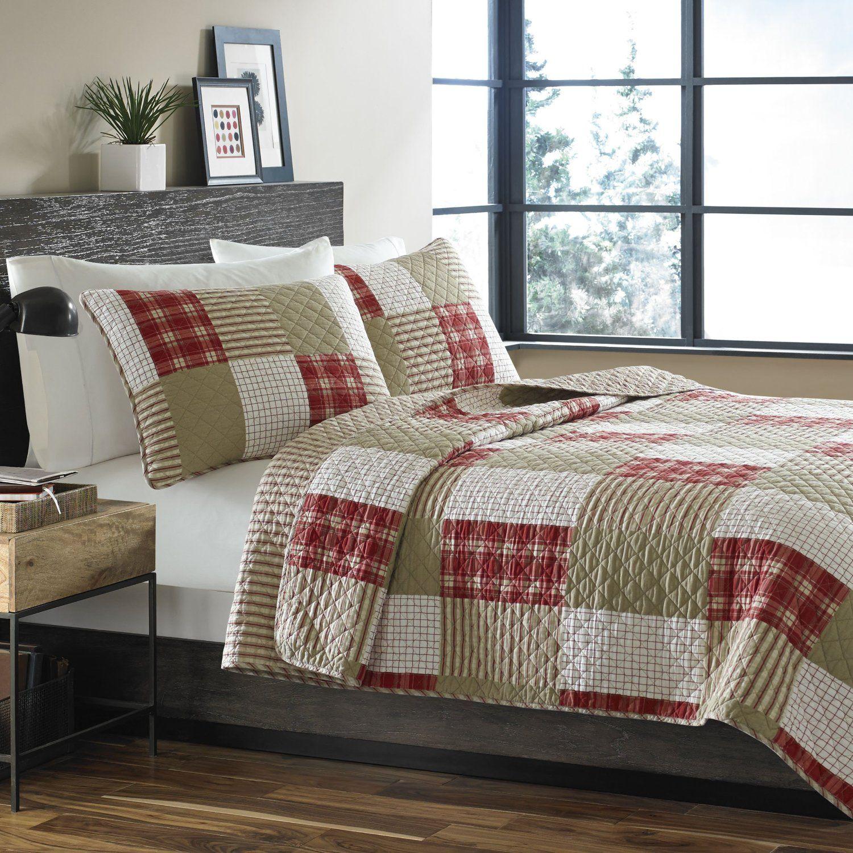 Amazon.com: Eddie Bauer Cotton Quilt Set, Full/Queen, Camino ... : king size white quilt - Adamdwight.com