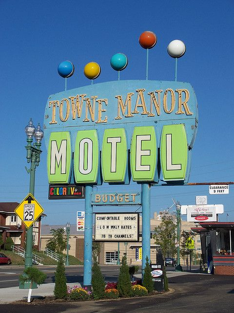 Towne Manor Motel Canton Ohio Googie