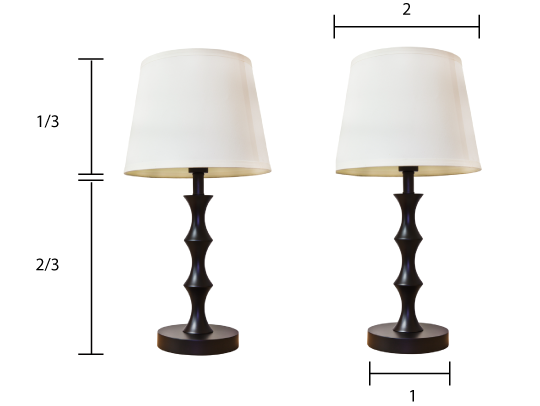 How To Choose The Right Size Lamp Shade Modern Lamp Shades Rustic Lamp Shades Antique Lamp Shades