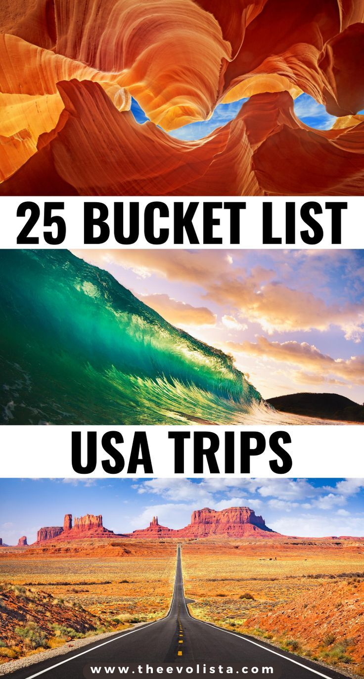 25 Bucket list USA trip ideas you can do right now. Hands down, these are the most beautiful United States destinations for the trip of a lifetime.