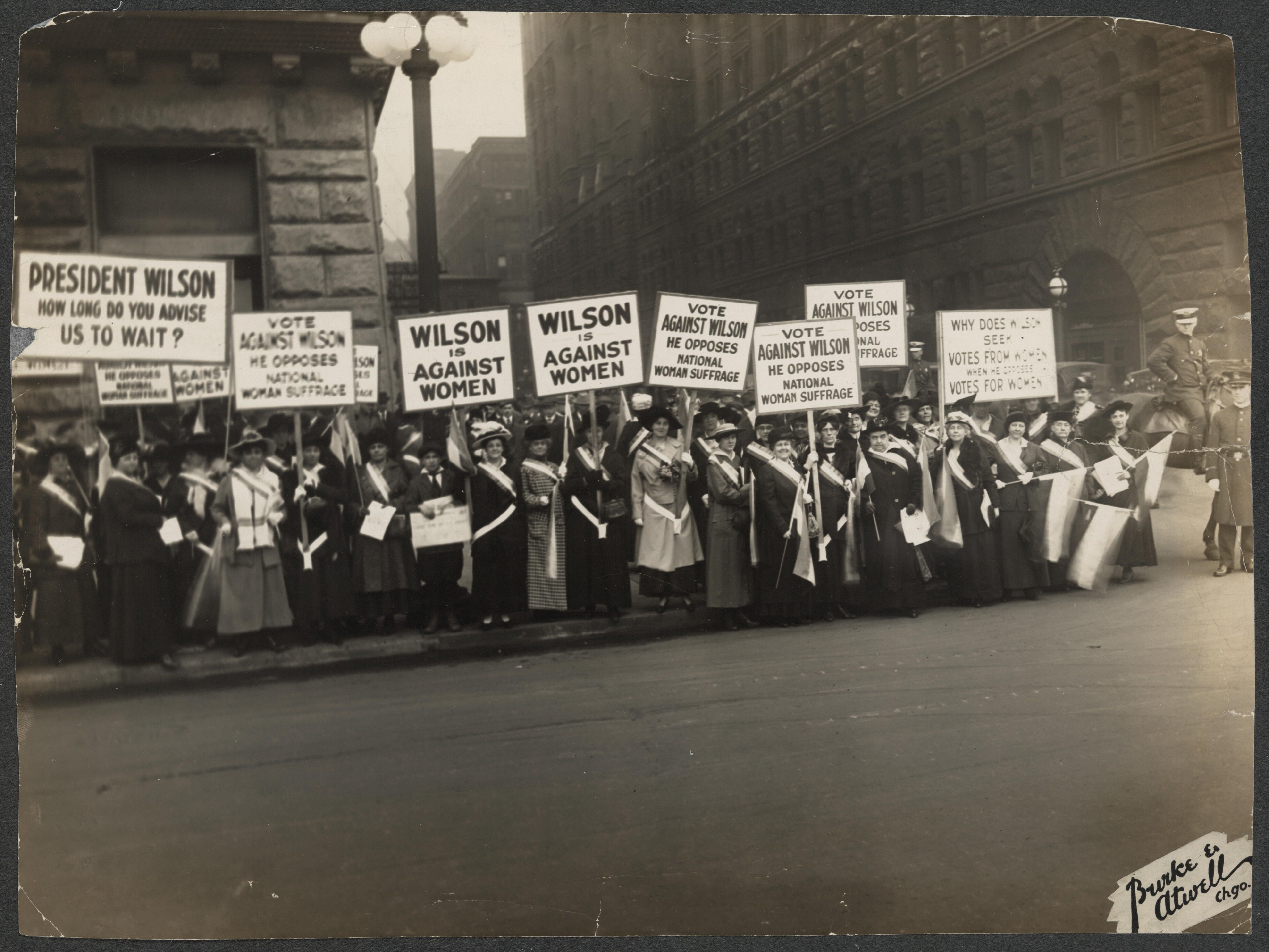 Protest Woodrow Wilson S Opposition To Woman Suffrage