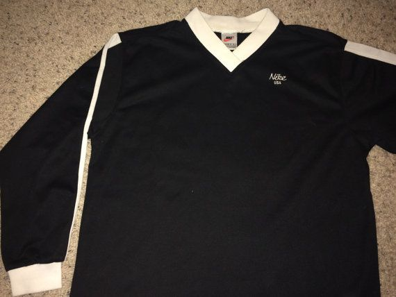 Sale Vintage Nike USA long sleeve soccer jersey 80s by casualisme ... cf336561a