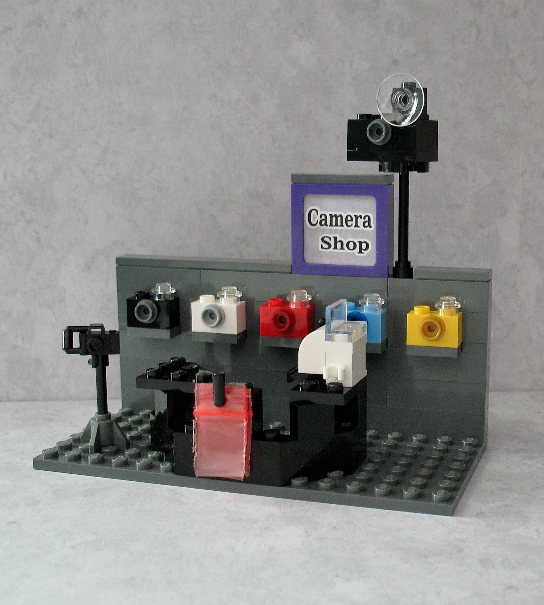 Custom Lego Camera Shop Sized For Minifigs And Friends For Sale