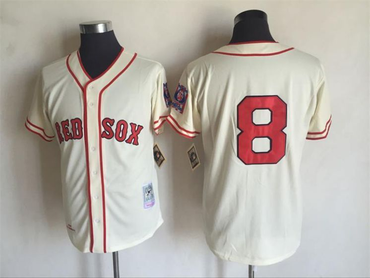 check out fb64f 4f2fa Men Boston Red Sox 8 Carl Yastrzemski Gream Throwback MLB ...