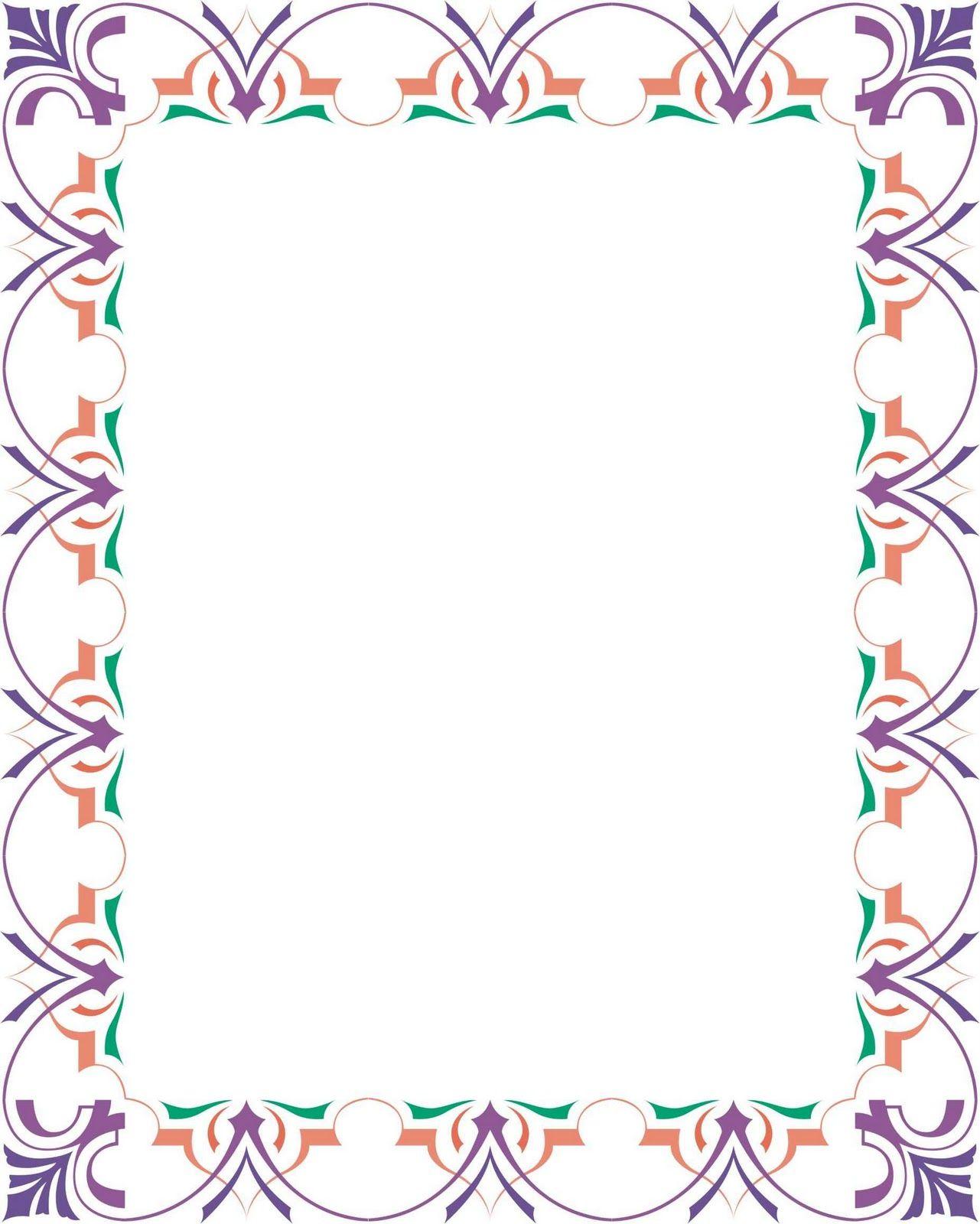 Bingkai / Border Piagam Vector (2) tadungkung Desain