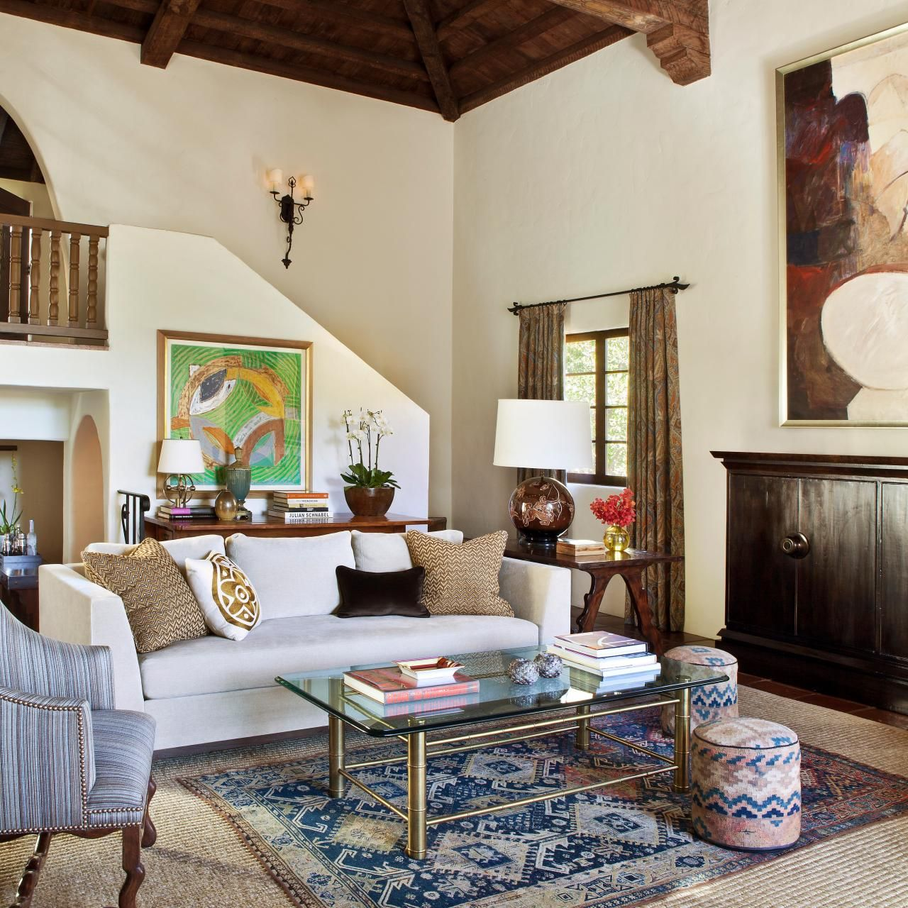 Old California And Spanish Revival Style Interior