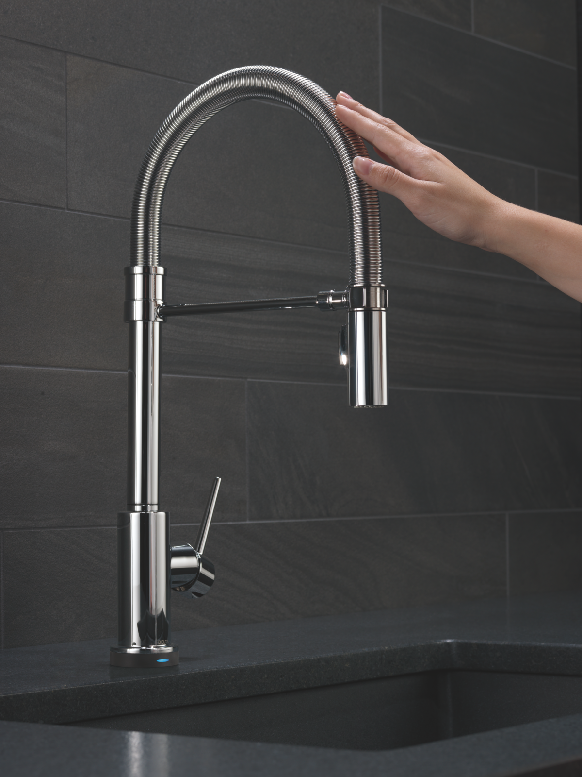 Delta Faucet Trinsic® Pro Single-Handle Pull-Down Kitchen Faucet by ...