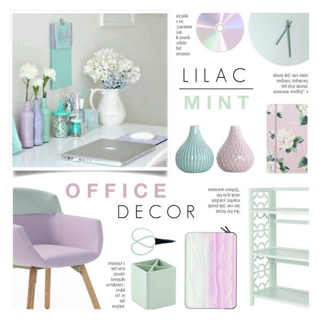Lilac Mint Office Decor By C Silla Liked On Polyvore Featuring