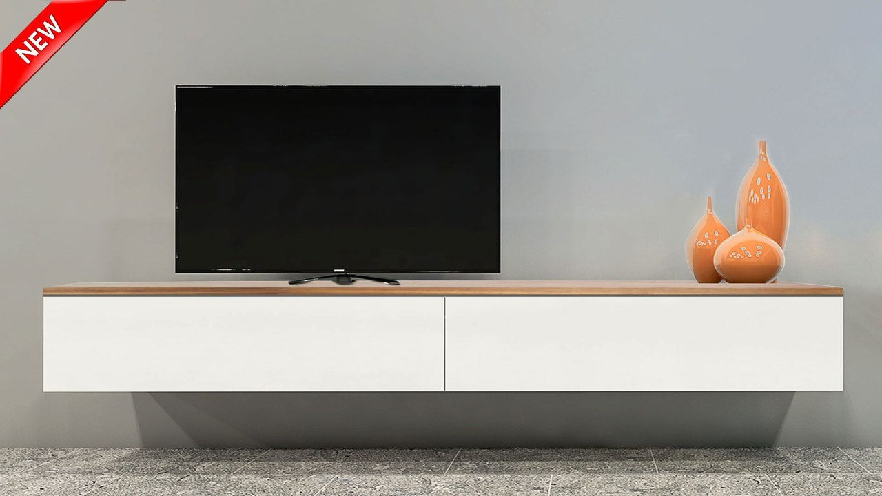 Brisbane Floating Wood Top Tv Wall Unit Tv Wall Unit Wall