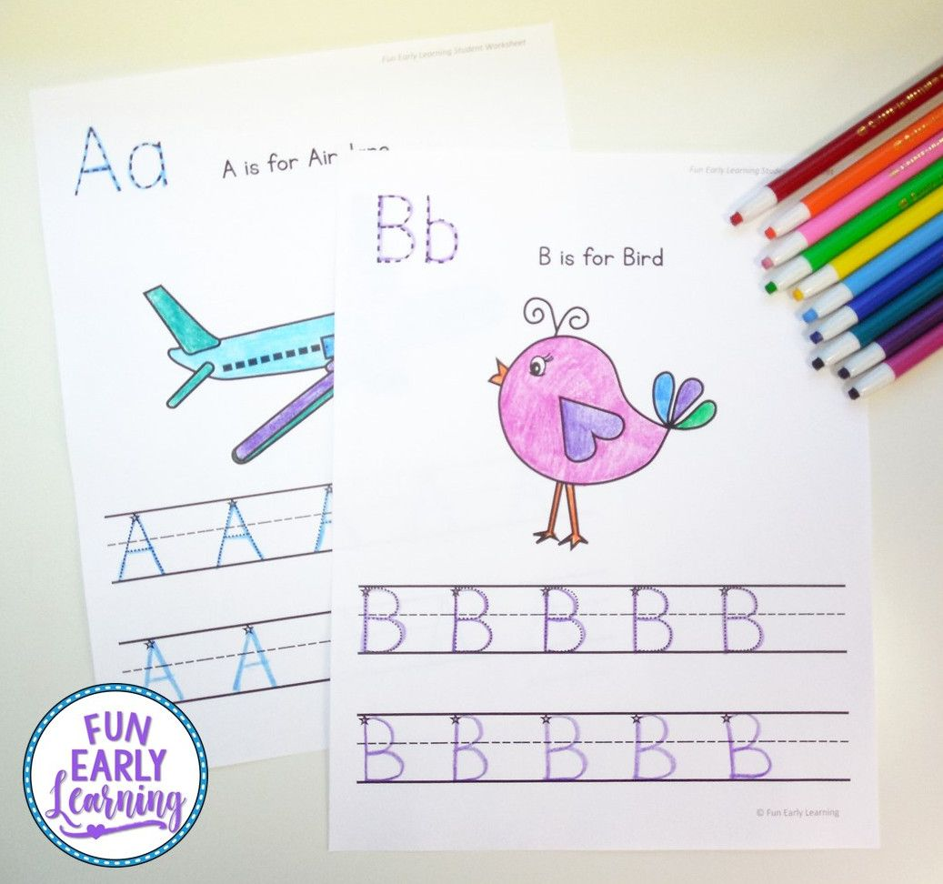 Uppercase Letter Worksheets With Guided Lessons With