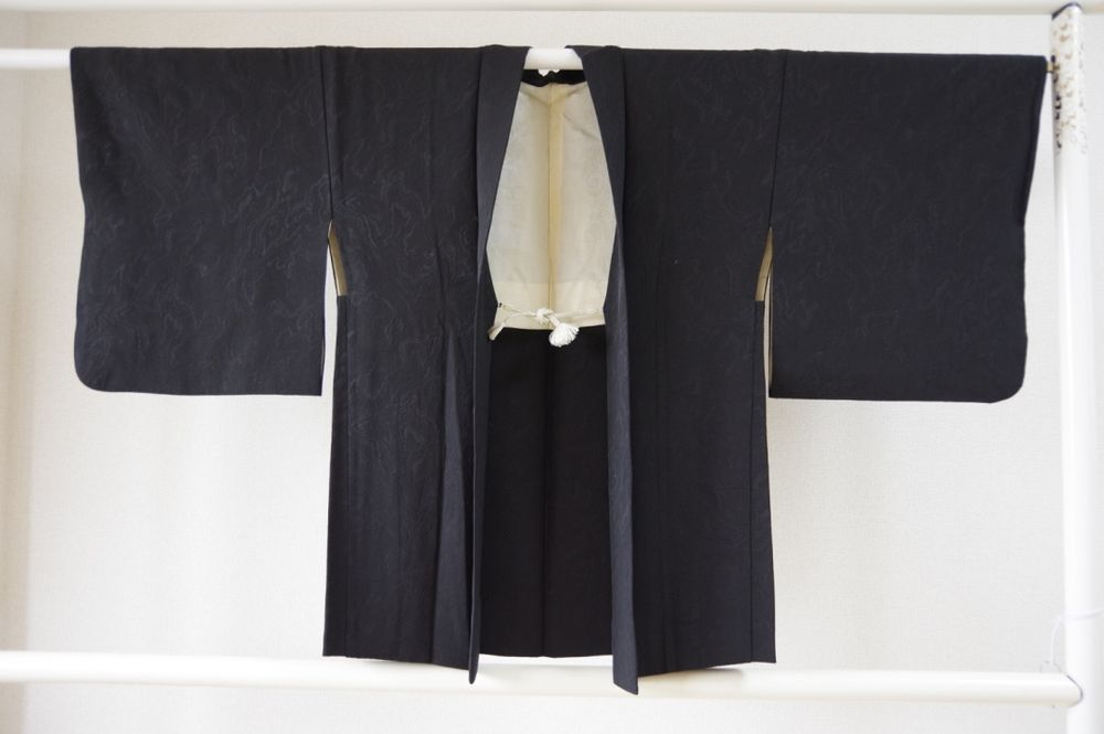 Kimono Dress Japan Vintage gown Geisha Silk used Japanese Haori coat 1610Y9S21