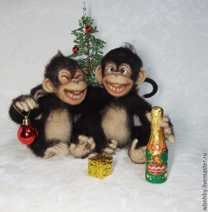 """Купить Символ года-""""Друганы"""" - коричневый, символ 2016 года, символ нового года, обезьянка"""