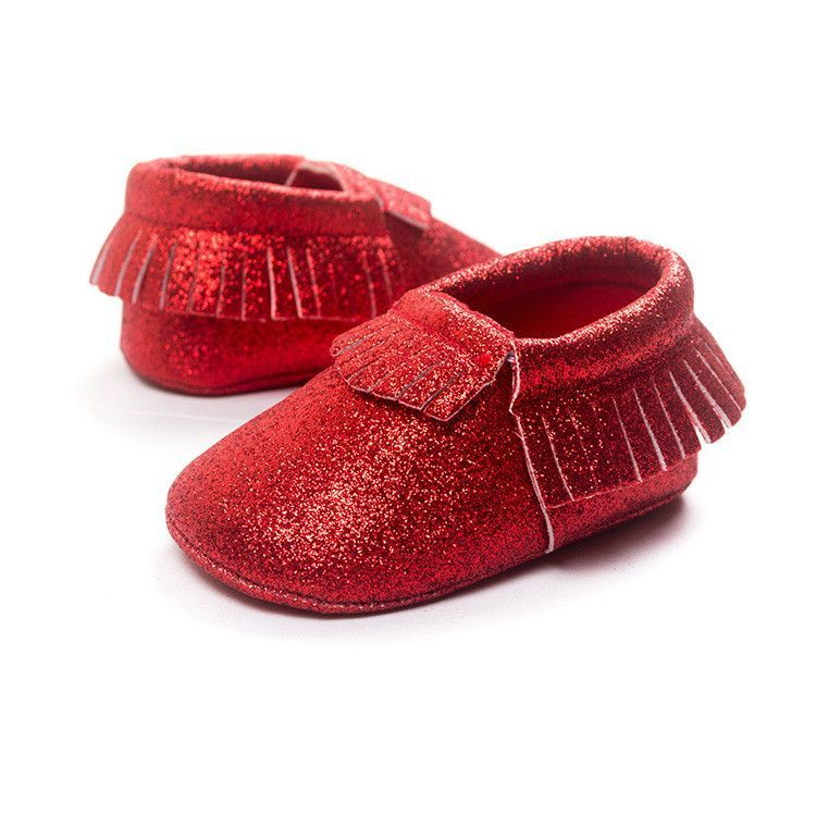 FREE Glitter Moccasin Crib Shoes