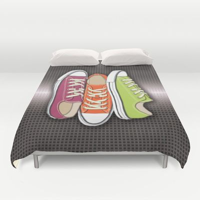 Running Shoes, Tennis Shoes, Sneakers Duvet Cover by Tees2go - $99.00