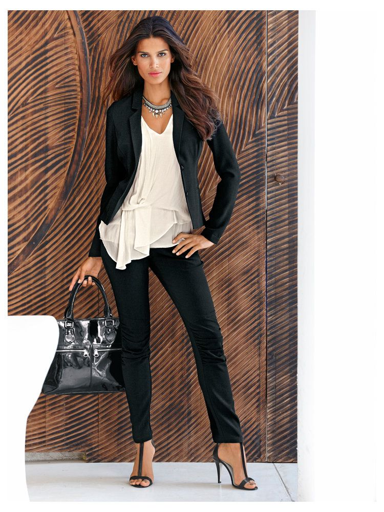 tenue tr s chic pour le bureau tenues pour femmes d 39 affaires. Black Bedroom Furniture Sets. Home Design Ideas