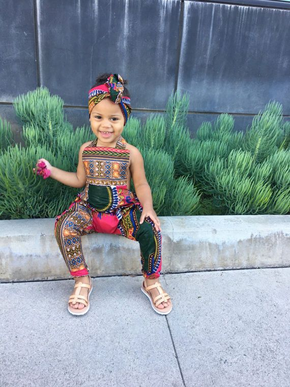 Baby Girl Toddler Vintage Inspired Playsuit Romper Jumpsuit African