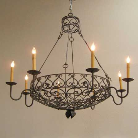 Basket chandelier large i want this pinterest wire basket french wire basket chandelier shades of light aloadofball Gallery