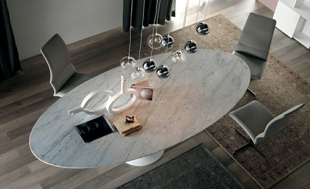 table de salle manger de design italien par cattelan italia design interieur and tables - Salle A Manger En Marbre