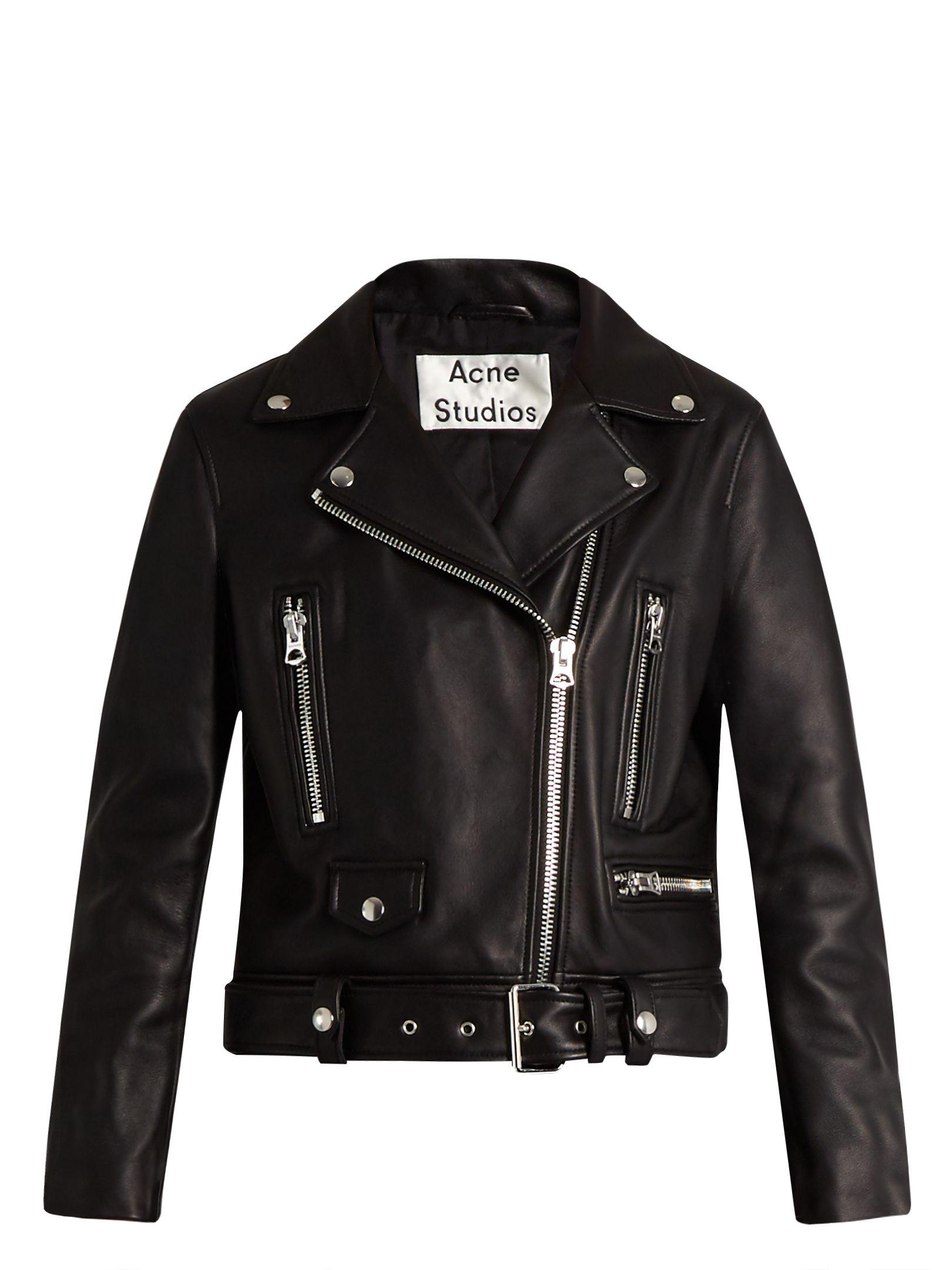 Mock leather biker jacket Acne Studios MATCHESFASHION