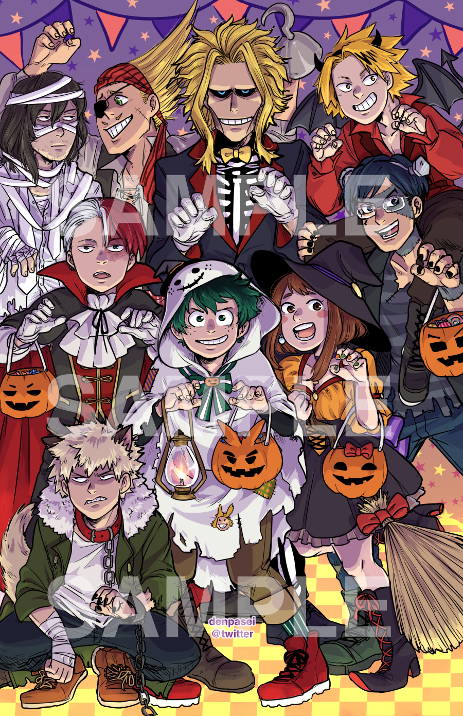 Image Result For Bnha Halloween Anime Halloween Anime My Hero