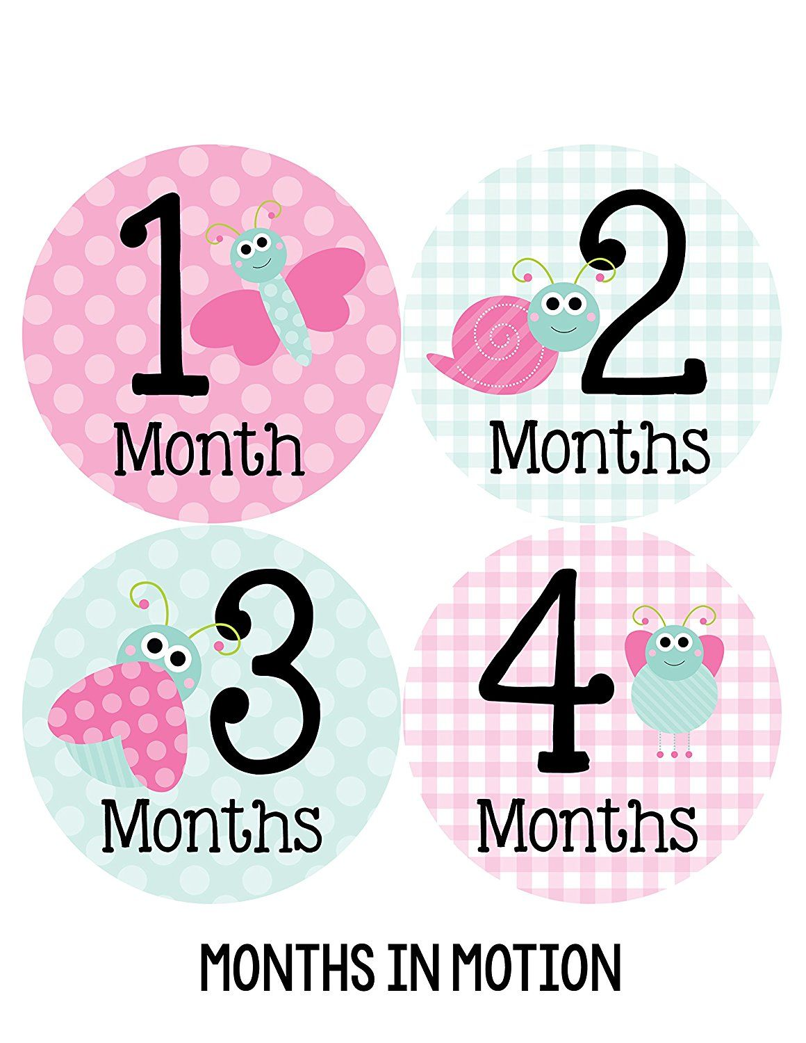 BABY Milestone 1-12 month Growth Photo Cards-Handmade--GREEN,PINK OR BLUE