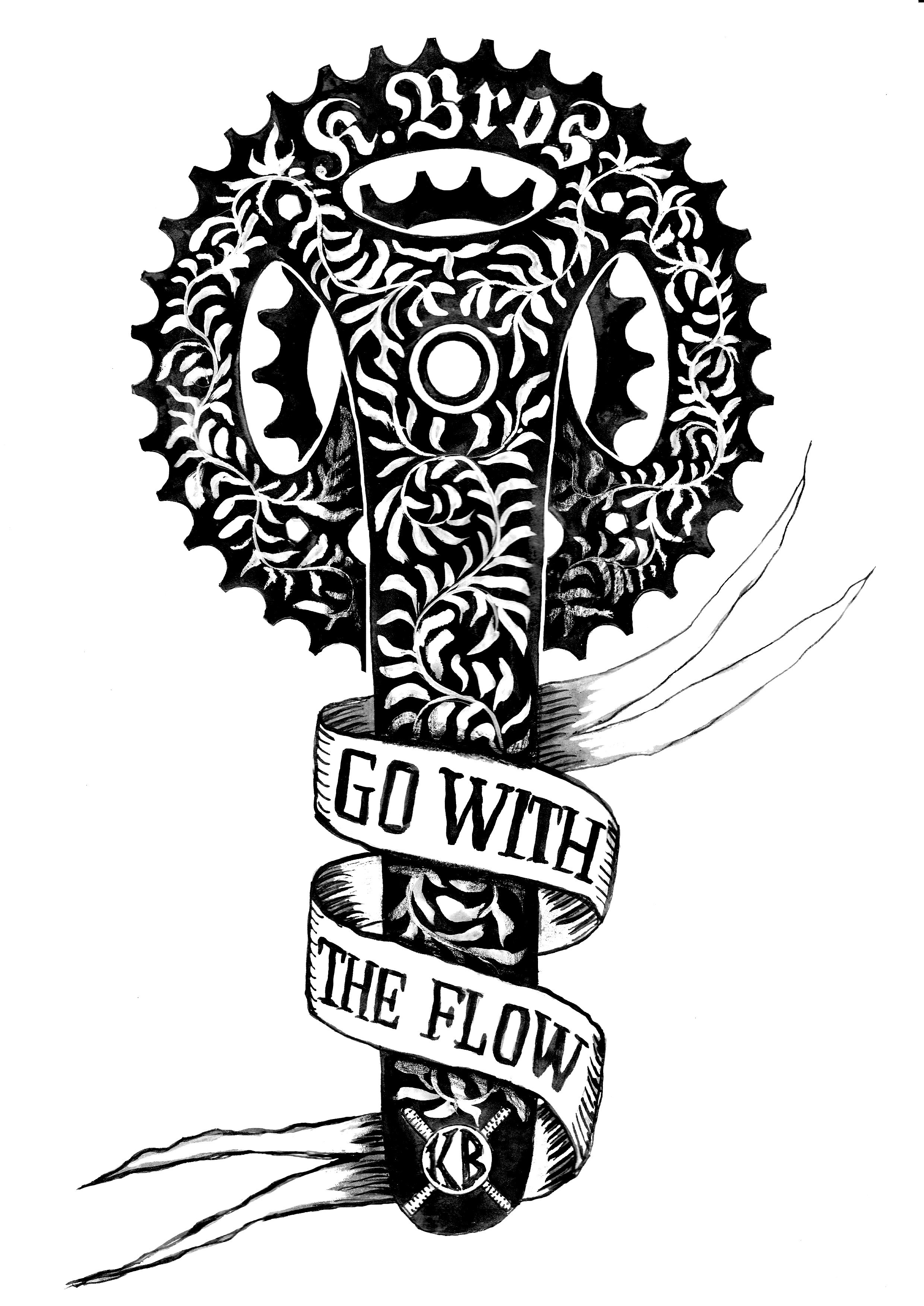 Tattoo Design We Did For The Kowalski Bros Mtb Track Builders