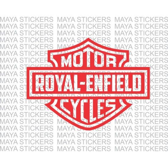 royal enfield logo in harley davidson style. | vector ideas