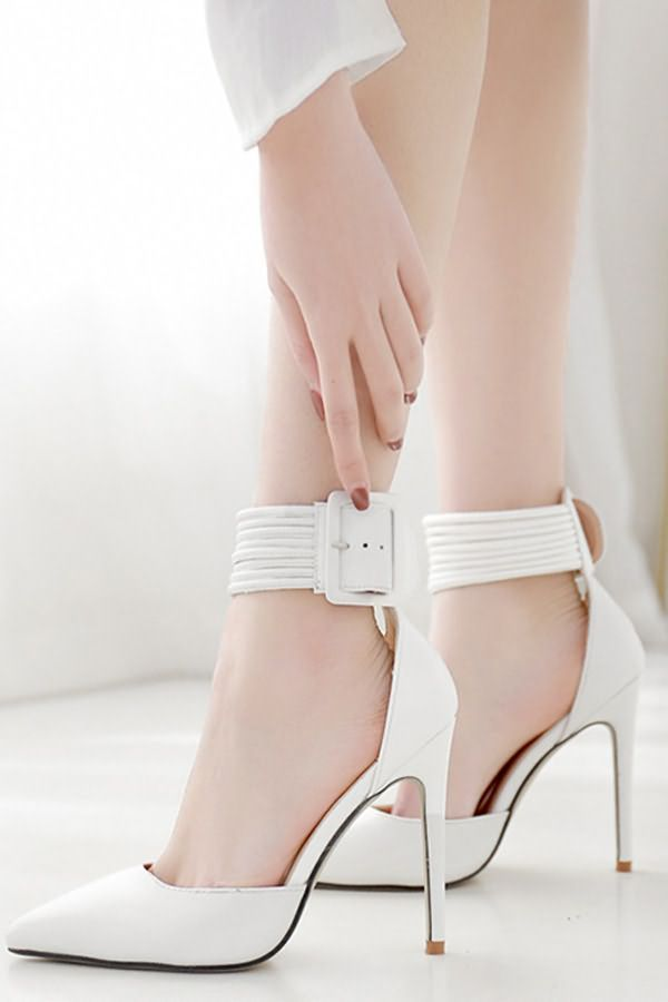 High heels stilettos, Ankle strap heels