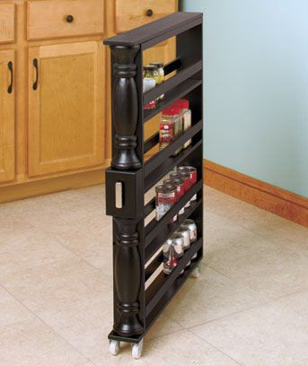 The Slim Can And Spice Rack Fits Into Any Tiny Space In Your Kitchen And Frees Your Cupboards Plus Kitchen Cabinet Storage Can And Spice Rack Kitchen Storage