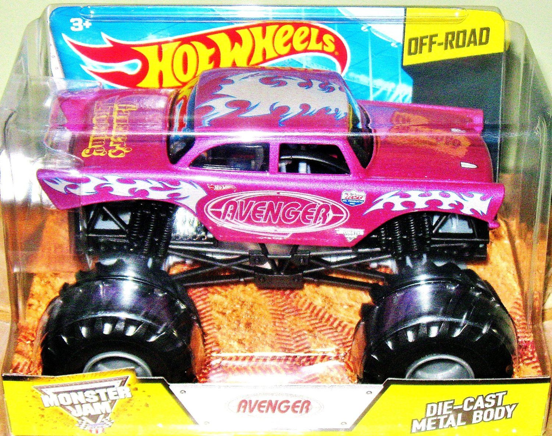 Amazon Com Hot Wheels Monster Jam 1 24 Scale Avenger Vechicle Toys Games Monster Jam Toys Hot Wheels Toys Hot Wheels Monster Jam