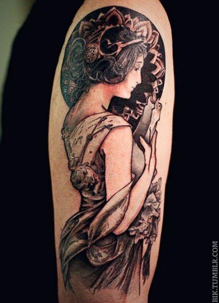 Pin By Jennifer Hill On Tattoo Ideas Art Nouveau Tattoo Nouveau