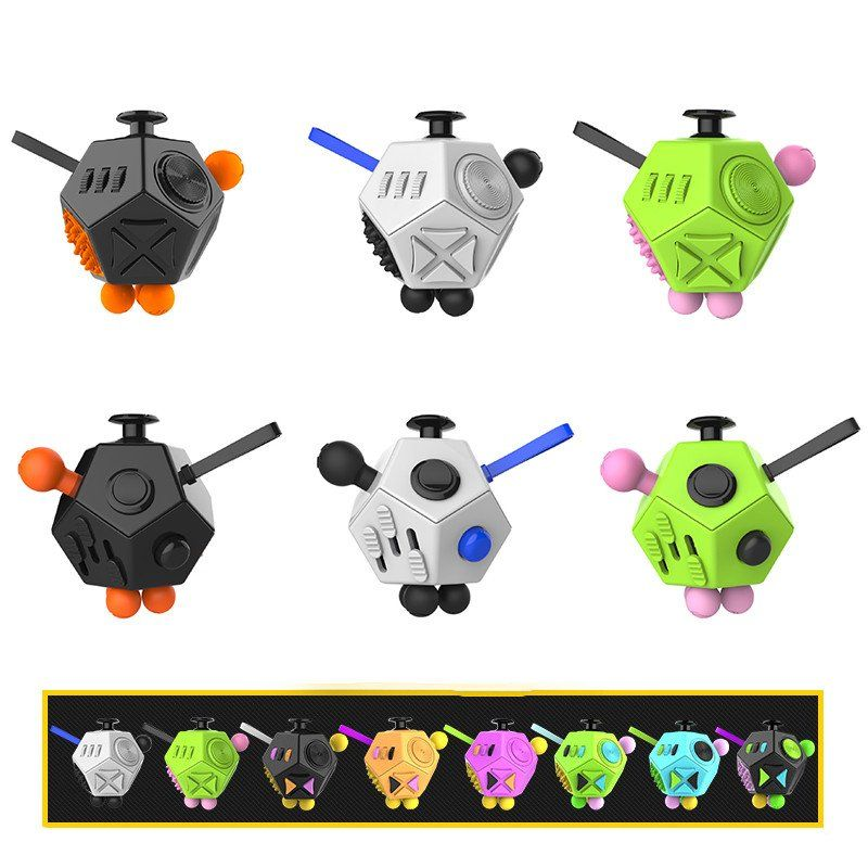 New Fidget Cube 2 Octagon Shape 3 Colors Left In Stock Fidget Cube Desk Gifts Desk Toys