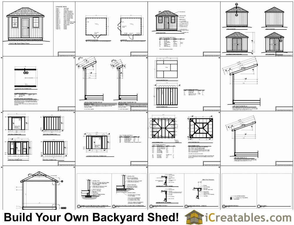 10x16 Hip Roof Shed Plans Example Shed Plans Hip Roof Shed