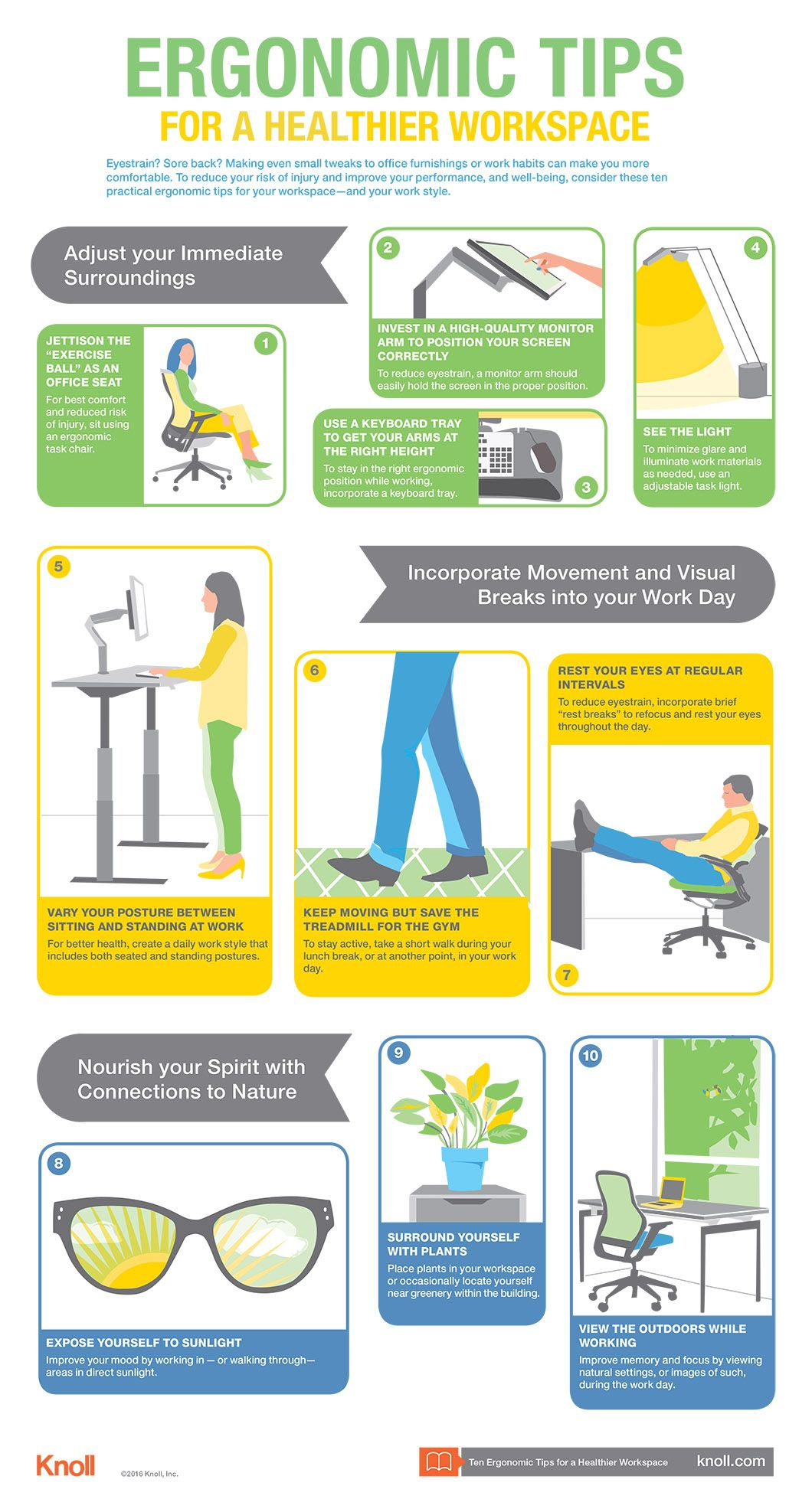 Ten Tips for a Healthier Workspace Infographic Workplace