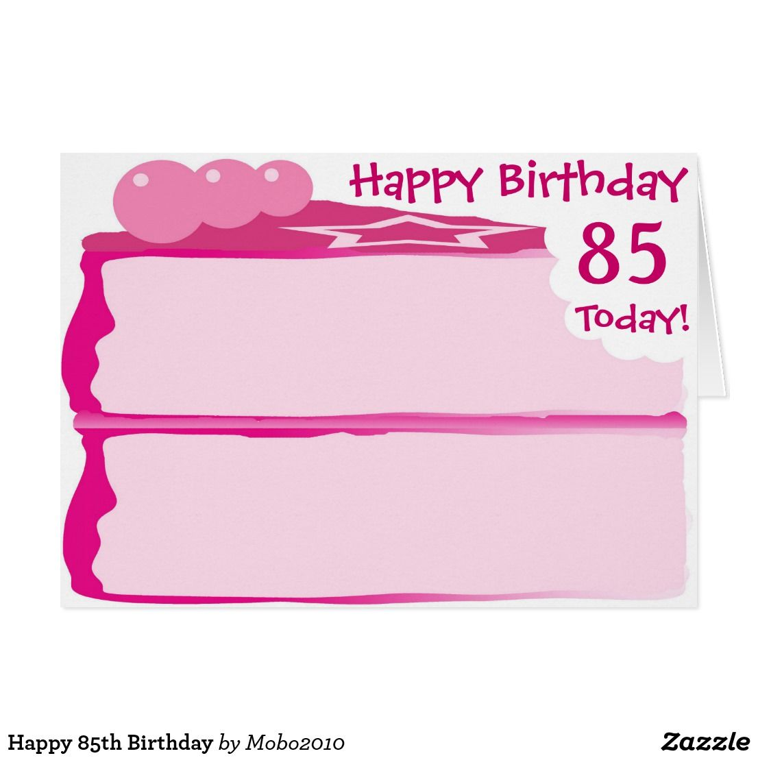Happy 85th Birthday Card Birthday Cards Ages 1 100 Iced Pink