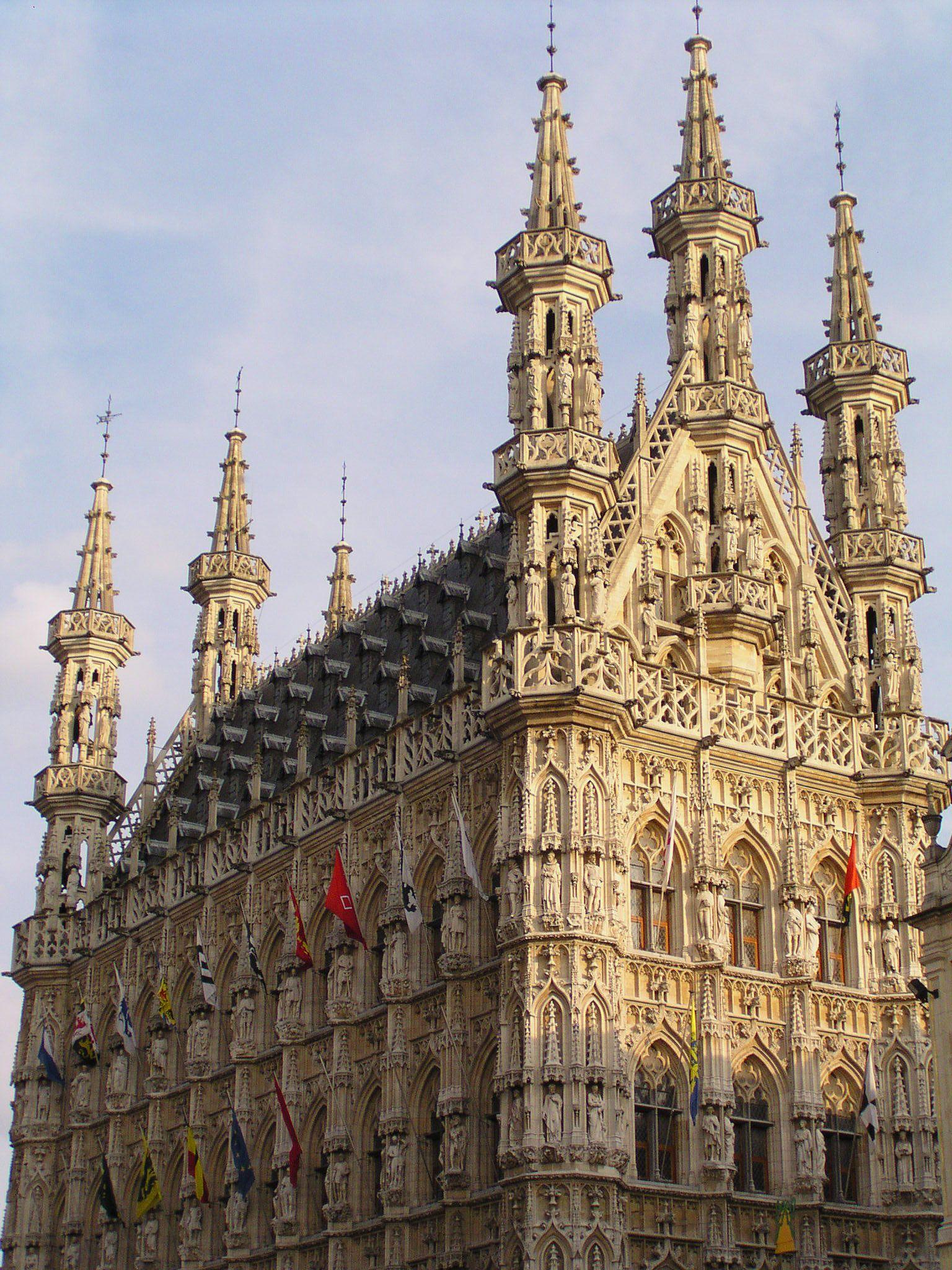 Stadhuis Van Leuven Gothic Architecture Belgium Leuven