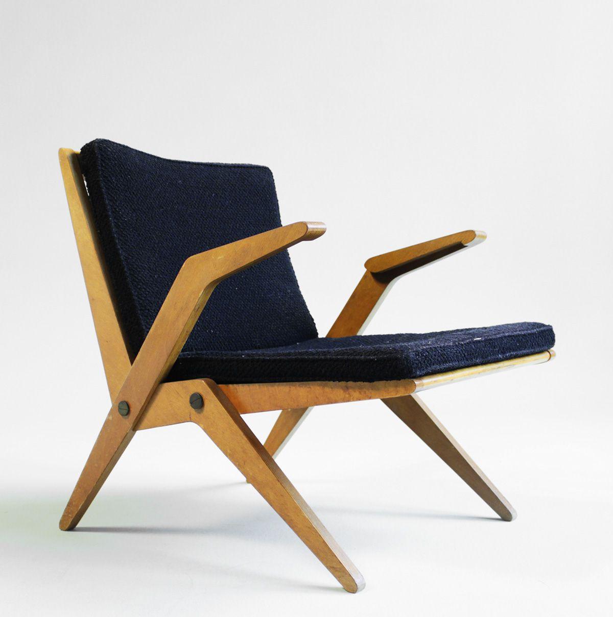 Albrecht Lange and Hans Mitzlaff; Armchair, c1951. | Furniture Design | Chair Design | Designer Chair