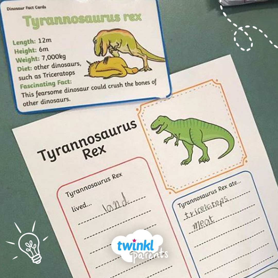 Dinosaur Fact File Worksheets In