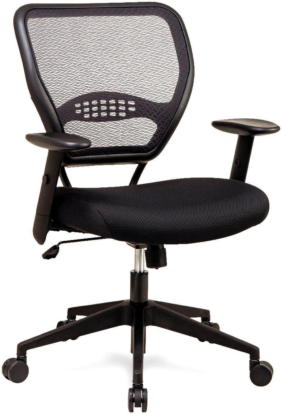 Delicieux Office Star Space Seating 5500 Professional Black AirGrid® Back Managers  Chair With Black Mesh Fabric Seat