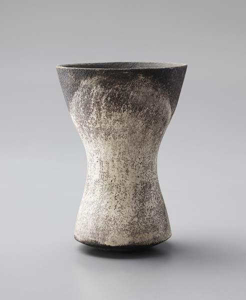 HANS COPER, 1920-1981  Early waisted vase, 1958 Sto