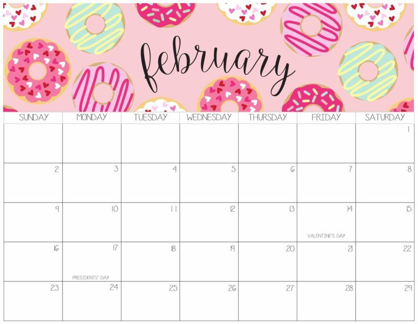 30 Free February 2020 Calendars For Home Or Office Onedesblog Calendar Printables Kids Calendar Printable Calendar
