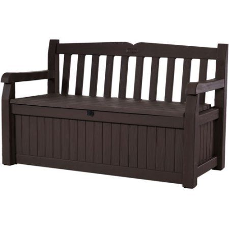 Keter Eden Outdoor Resin Storage Bench All Weather Plastic Seating u0026 Storage 70 Gal  sc 1 st  Pinterest & Keter Eden Outdoor Resin Storage Bench All Weather Plastic Seating ...