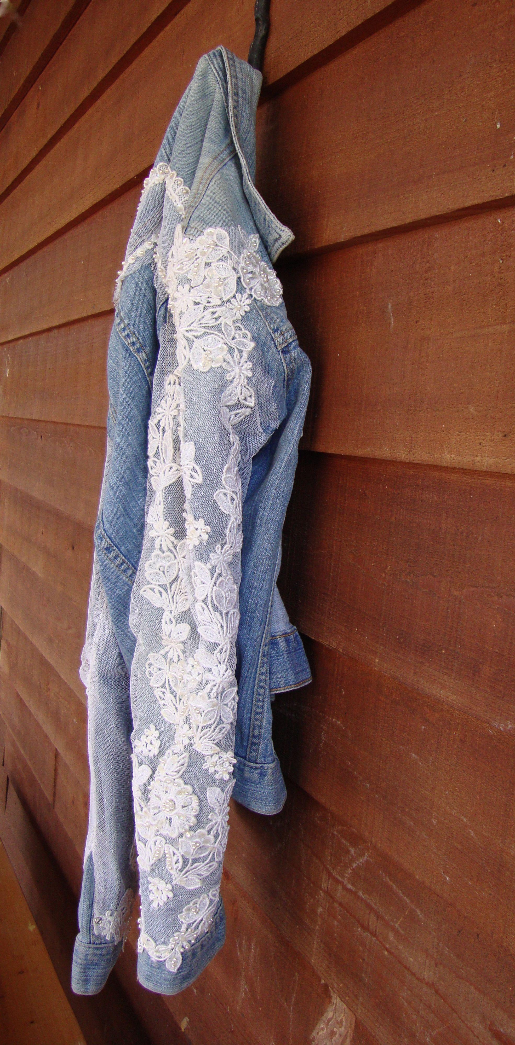 Denim and wedding lace avec du jeanus pinterest weddings