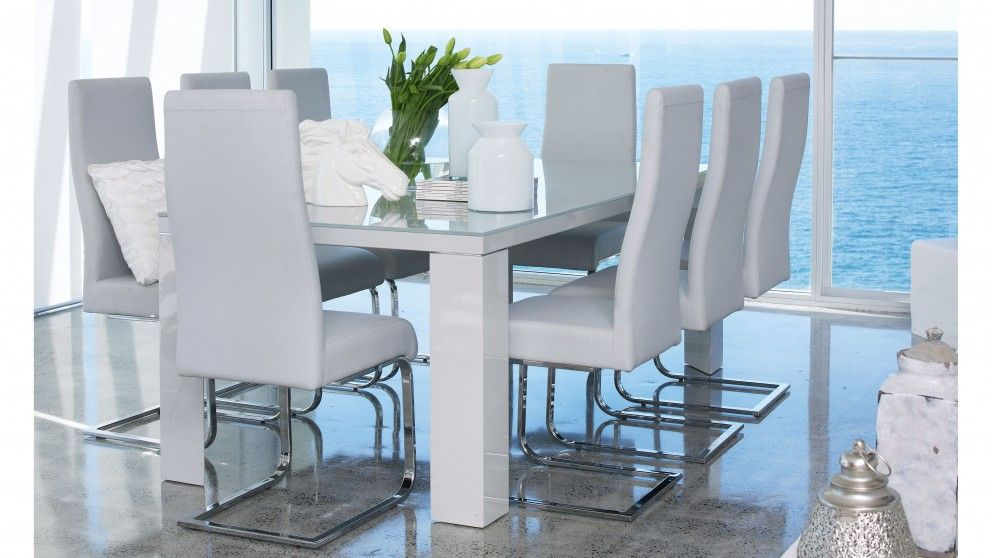 Hollywood 9 piece dining suite dining furniture dining for Dining room tables harvey norman