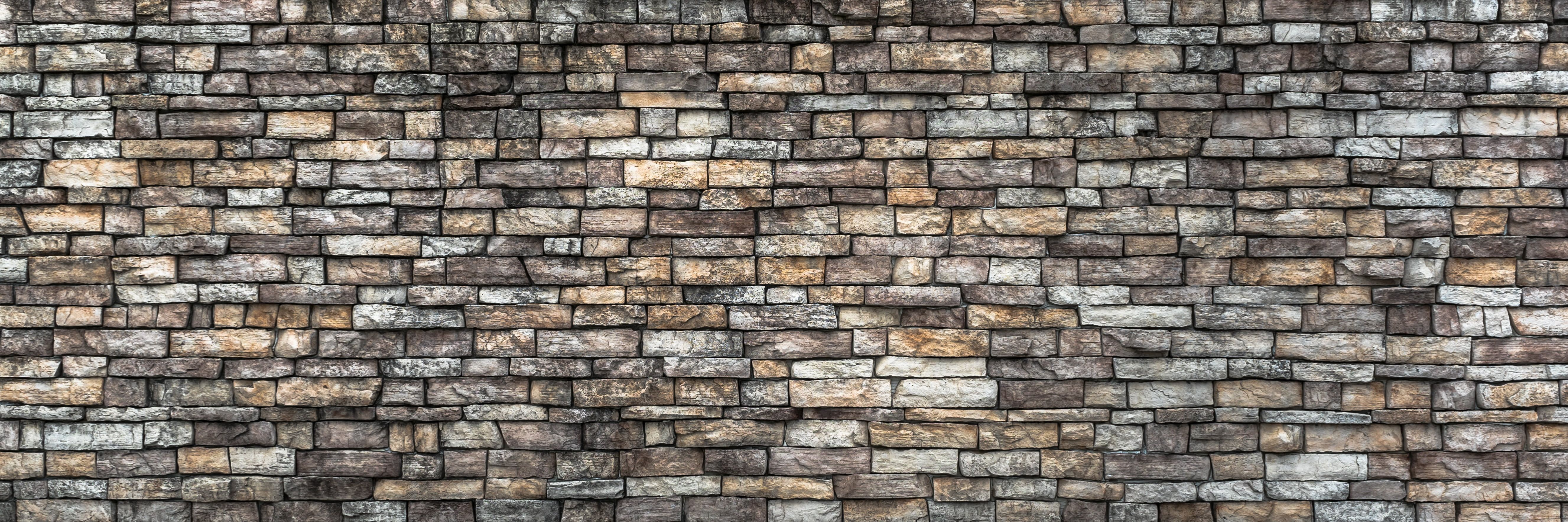 White And Brown Ceramic Bricks Wall Damme Stone Wall Pattern Texture Grey Background Stone Construction Brick Bloc Stone Wall Wallpaper Wall Patterns