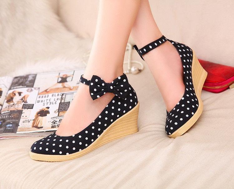 RTRY Women 'S Sandals Summer Mary Jane Pu Casual Wedge Heel B073PRH88B