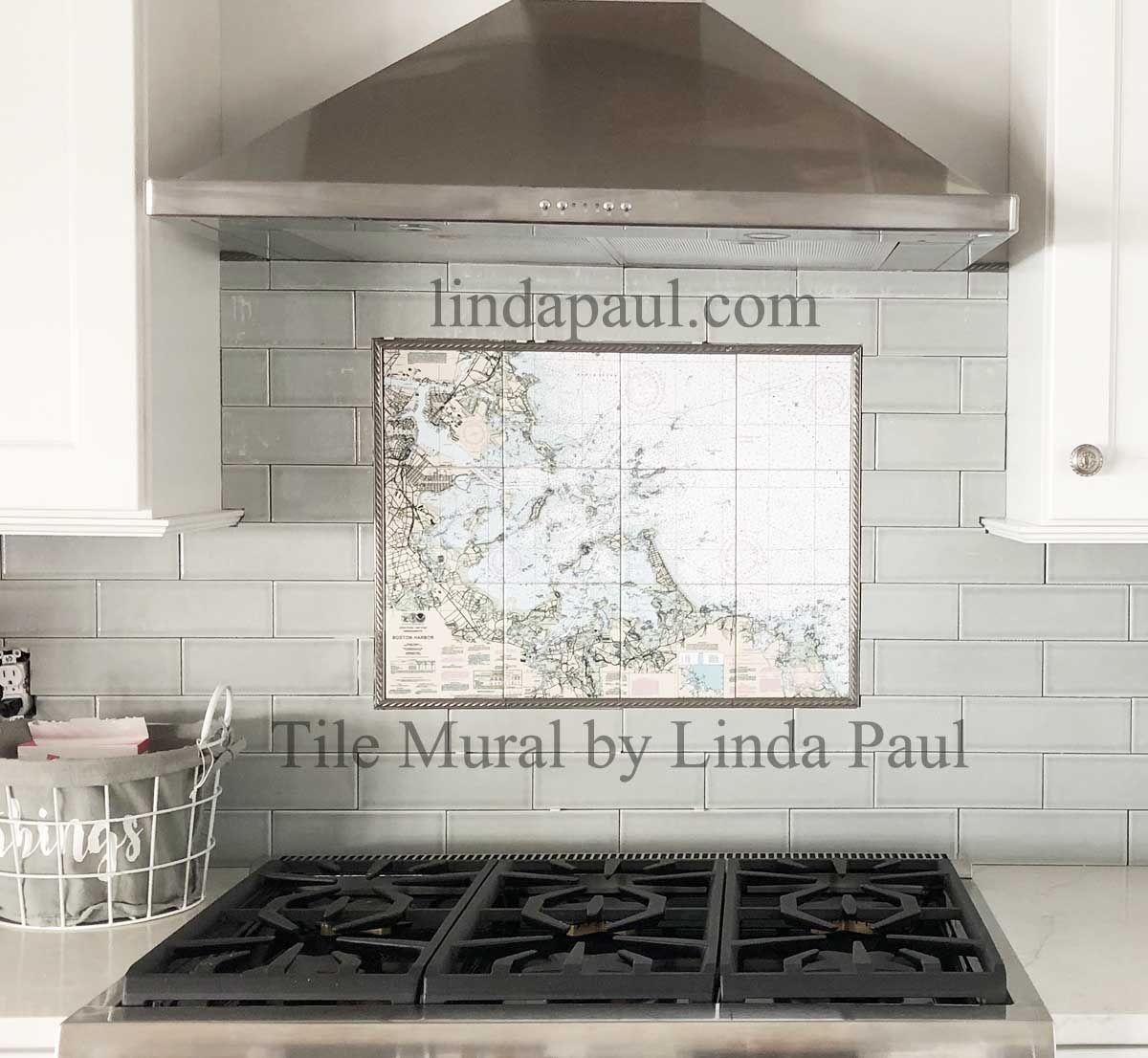 - Custom Tile Mural Of Map Tile Murals, Custom Tile Mural, Custom